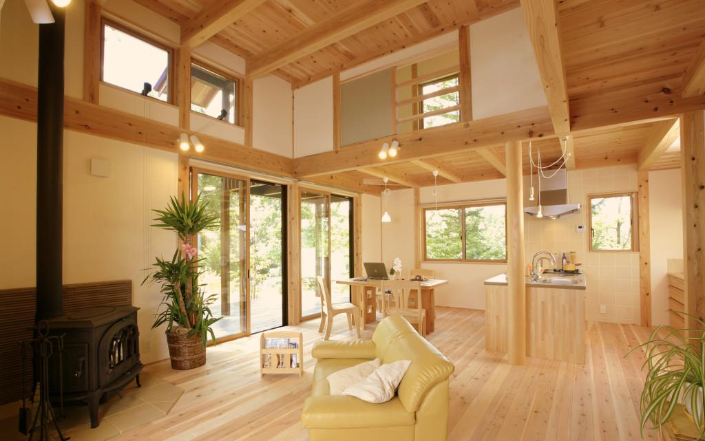 浅間山を見て過ごす家